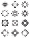 Decorative design elements black. Colour Stock Images