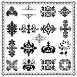 Decorative design elements (black) Stock Image