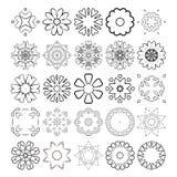 Decorative design elements. Circle ornament. Vector set. Stock Photo