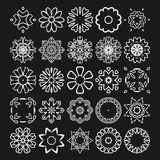 Decorative design elements. Circle ornament. Vector set. Stock Image