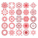 Decorative design elements. Circle ornament. Vector set. Stock Images