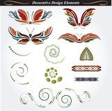 Decorative design elements 13 Stock Image
