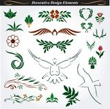 Decorative design elements 15. Collection of decorative and flourish elements in  format Stock Illustration