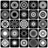 Decorative design elements. Patterns set. Vector art Royalty Free Stock Photos
