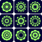 Decorative design elements. Patterns set. Vector art Stock Images