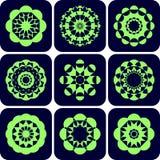 Decorative design elements. Patterns set. Stock Images