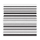 Decorative design elements. Simple zigzag, wavy underlines for s Stock Image