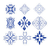 Decorative design elements  Vector set Stock Image
