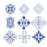Decorative design elements  Vector set Stock Image