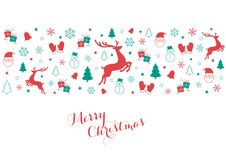 Christmas Icons in Red and Green Royalty Free Stock Images