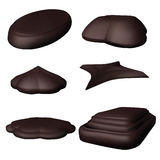 Decorative design Vector chocolate. 6 piece Stock Illustration