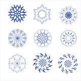 Decorative design Vector circle and flower Royalty Free Stock Photo