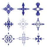 Decorative design Vector cross. Vector of decorative elements cross royalty free illustration
