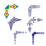 Decorative design Vector corner. Vector of decorative elements corner royalty free illustration