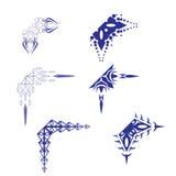 Decorative design Vector corner. Vector of decorative elements corner abstact vector illustration