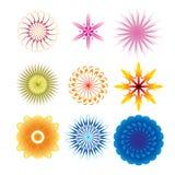 Decorative design Vector flower. Vector of decorative elements flower royalty free illustration