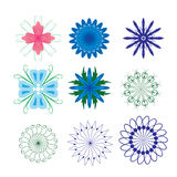 Decorative design Vector flower. Vector of decorative elements flower stock illustration