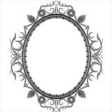 Decorative design Vector frame. Circle abstract gray pattern Stock Illustration