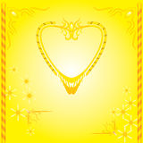 Decorative design Vector frame marriage cards. Yellow pattern Stock Photo