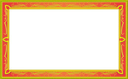 Decorative design Vector frame. Red and yellow pattern Royalty Free Illustration