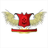 Decorative design Vector skull devil logo. Red devil satan Royalty Free Illustration