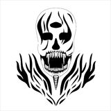Decorative design Vector skull devil three eyes banner Royalty Free Stock Photography