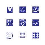 Decorative design Vector square symbol. Vector of decorative elements square symbol face and abstract icon Stock Illustration