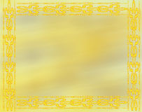 Decorative Design in Yellow Royalty Free Stock Images