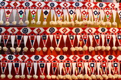 Decorative designs. Decorative design from Kerala, India found on various religious and cultural elements Stock Photo