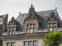 Decorative detail on facade of Amsterdam canal house Stock Image