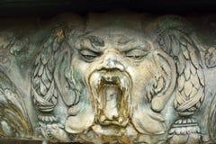 Decorative detail of Oskar-Winter-Brunnen fountain Stock Photography