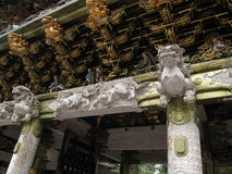 Decorative details of traditional Japanese shrine and temple Royalty Free Stock Image