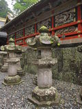 Decorative details of traditional Japanese shrine and temple Stock Photos