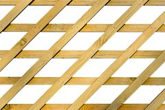 Decorative diamond shaped wooden grating Stock Photo