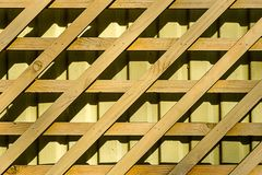 Decorative diamond shaped wooden grating Royalty Free Stock Image