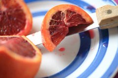 Decorative dish with blood orange Stock Images