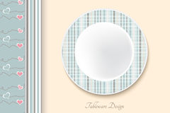 Decorative dishes template Royalty Free Stock Photo
