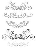 Decorative dividers. Clip art collection of different page dividers / ornamental shapes / elements. Fancy divider set isolated on white background Stock Photos