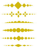 Decorative dividers. Clip art collection of different page dividers Royalty Free Stock Photos