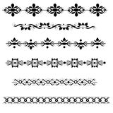 Decorative Dividers Set. Fancy ornamental divider set isolated on white background Royalty Free Illustration