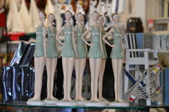 Decorative Dolls. A group of standing decorative dolls Stock Photo