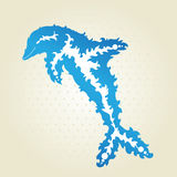 Decorative dolphin Stock Photos