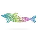 Decorative Dolphin Stock Photography