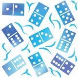 Decorative dominoes pattern. Seamless pattern. Royalty Free Stock Photos