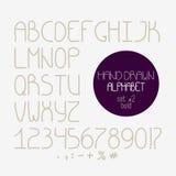 Decorative doodle alphabet. Bold font Stock Images