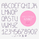 Decorative doodle alphabet. Regular font Royalty Free Stock Photos