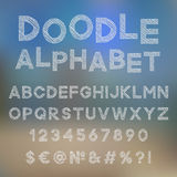 Decorative doodle alphabet Royalty Free Stock Images