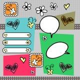 Decorative doodle elements Royalty Free Stock Image