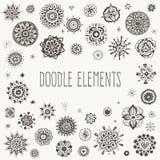 Decorative doodle elements Stock Image