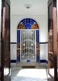 Decorative door. Fancy decorative door at a building entrance or doorway Royalty Free Stock Image